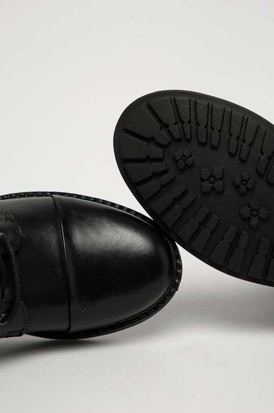 černá Aldo - Kožené kotníkové boty Onoressa