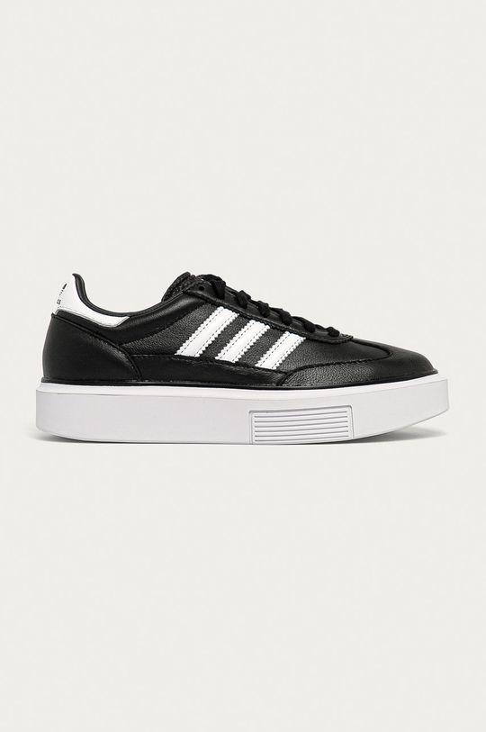 černá adidas Originals - Kožené boty Sleek Super Dámský