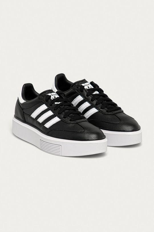 adidas Originals - Kožené boty Sleek Super černá