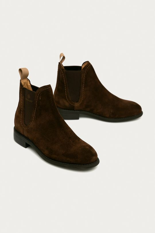 Gant - Sztyblety skórzane Ainsley ciemny brązowy