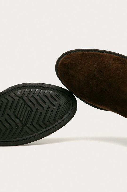 ciemny brązowy Gant - Sztyblety skórzane Ainsley