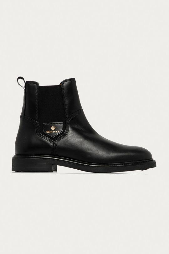černá Gant - Kožené kotníkové boty Ashleyy Dámský