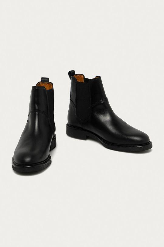 Gant - Kožené kotníkové boty Ashleyy černá