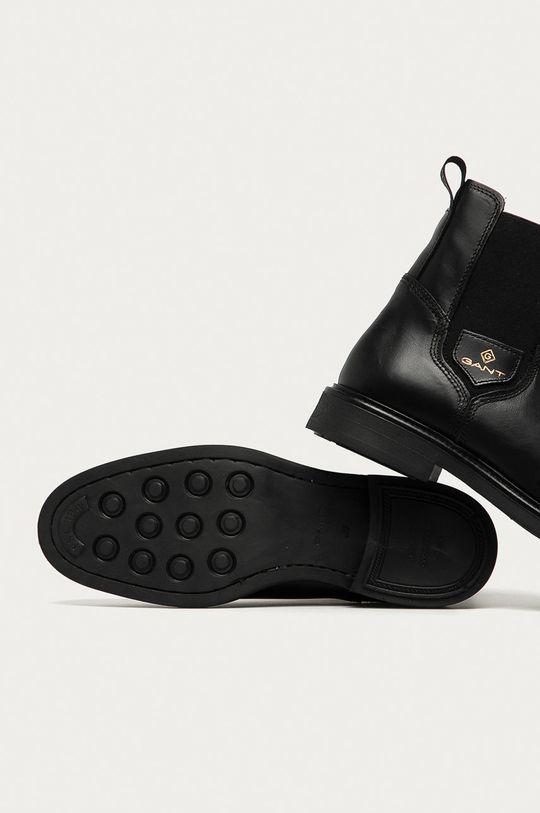 černá Gant - Kožené kotníkové boty Ashleyy
