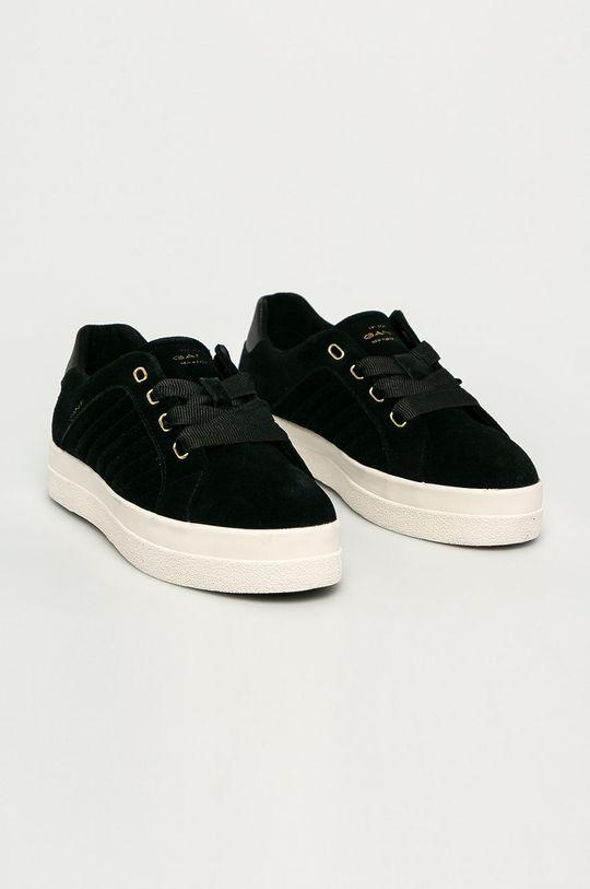 Gant - Buty skórzane czarny