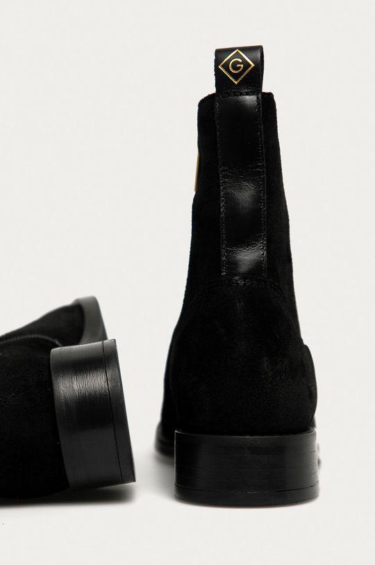 Gant - Botki skórzane Fayy Cholewka: Skóra zamszowa, Wnętrze: Skóra naturalna, Podeszwa: Materiał syntetyczny