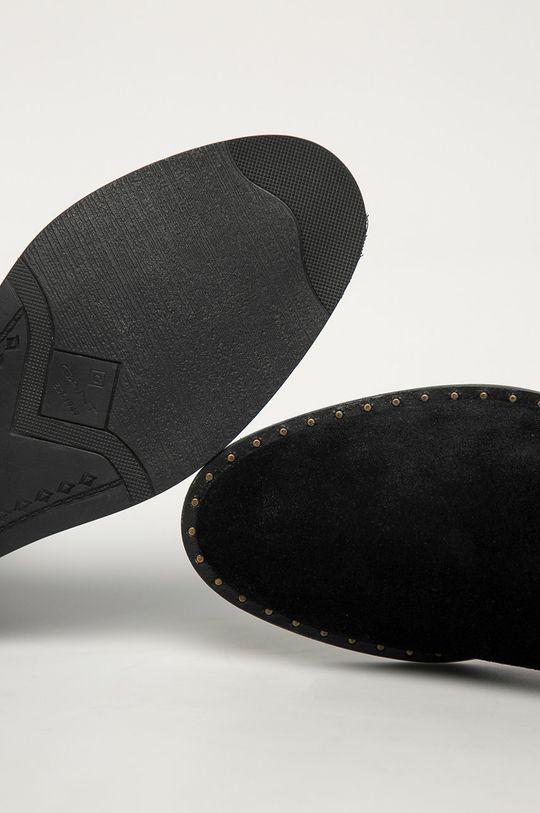 czarny Gant - Sztyblety zamszowe Hampton