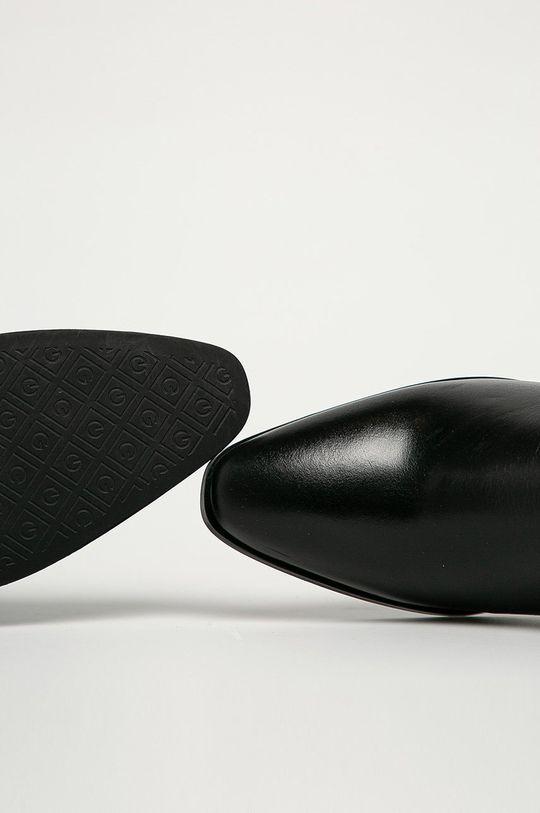 czarny Gant - Sztyblety skórzane Isla
