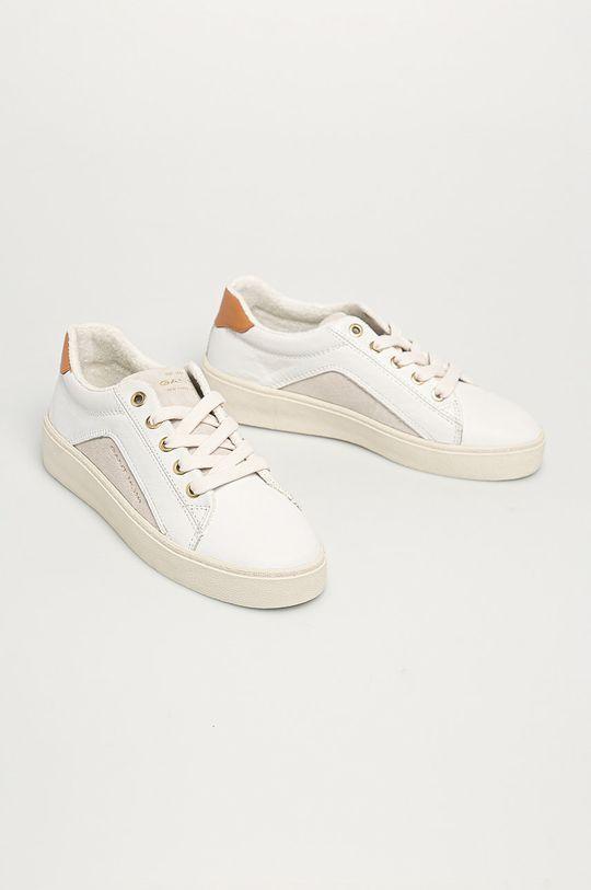 Gant - Buty skórzane Lagalilly biały