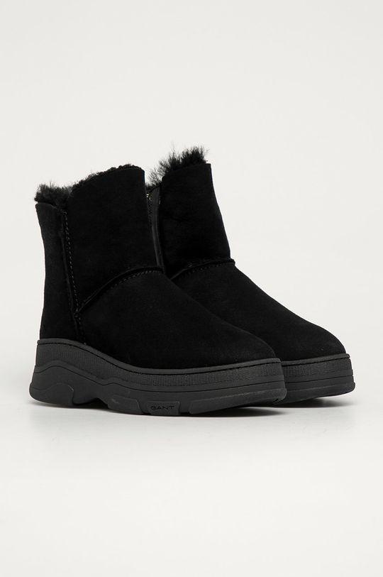 Gant - Śniegowce zamszowe Najor czarny