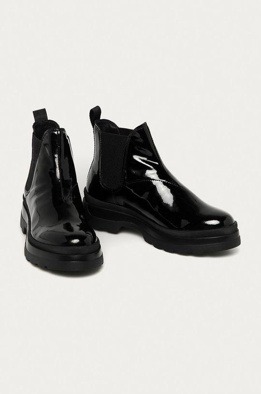 Gant - Kožené kotníkové boty Windpeak černá