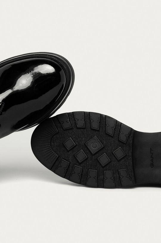 černá Gant - Kožené kotníkové boty Windpeak