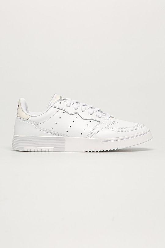 biały adidas Originals - Buty skórzane Supercourt Damski