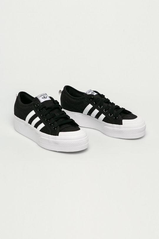 adidas Originals - Tenisky Nizza Platform černá
