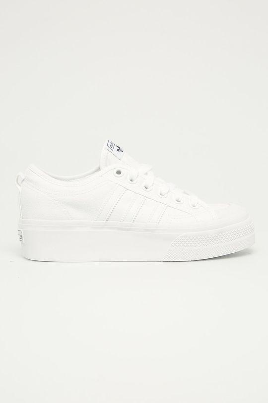 bílá adidas Originals - Tenisky Nizza Platform W Dámský