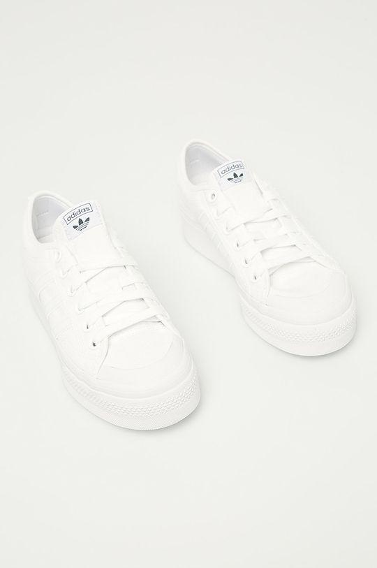 bílá adidas Originals - Tenisky Nizza Platform W