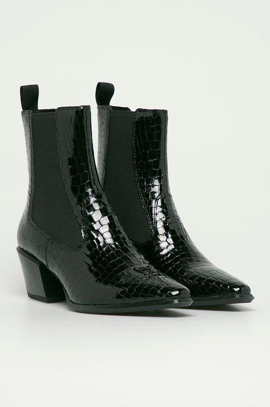 Vagabond - Kožené kotníkové boty Betsy černá