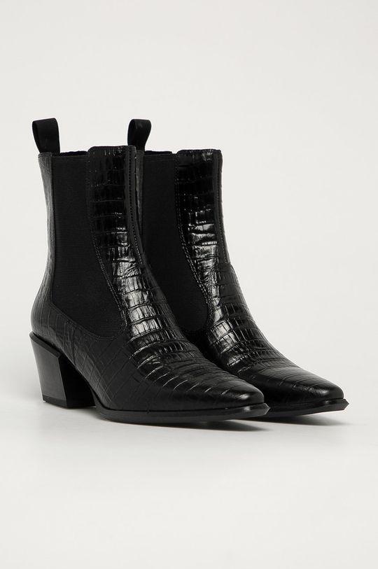 Vagabond - Kožené topánky Chelsea Betsy čierna