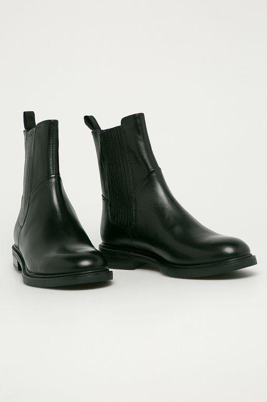 Vagabond - Kožené topánky Chelsea Amina čierna