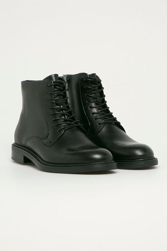 Vagabond - Kožené členkové topánky Amina čierna