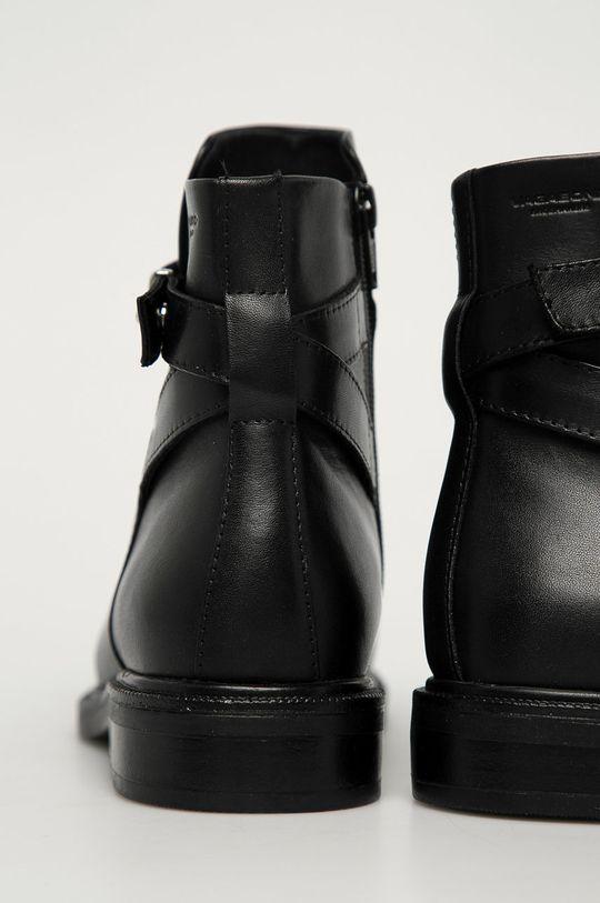 černá Vagabond - Kožené kotníkové boty Amina