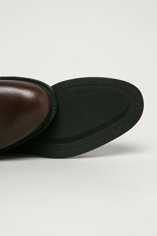 tmavohnedá Vagabond - Kožené členkové topánky Amina