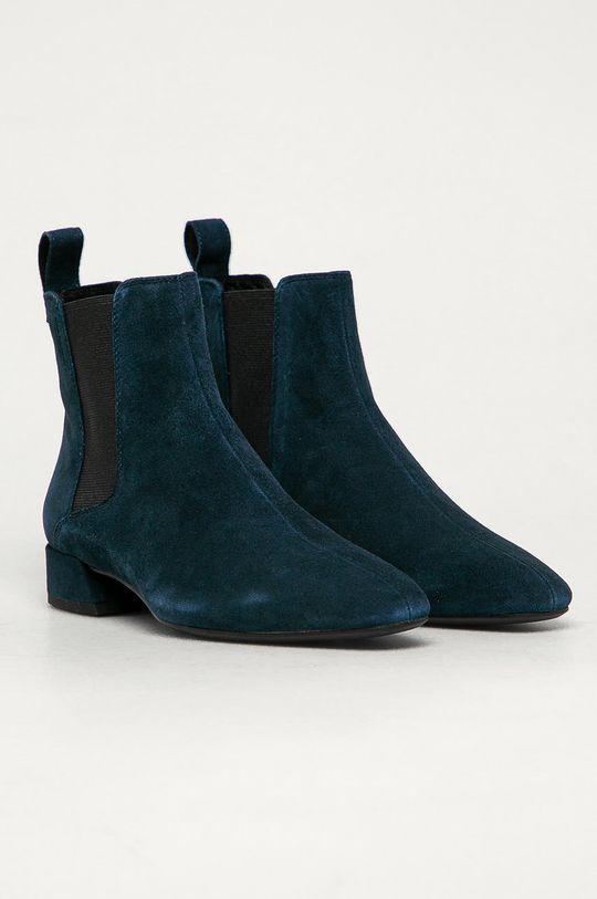 Vagabond - Kožené topánky Chelsea Joyce tmavomodrá