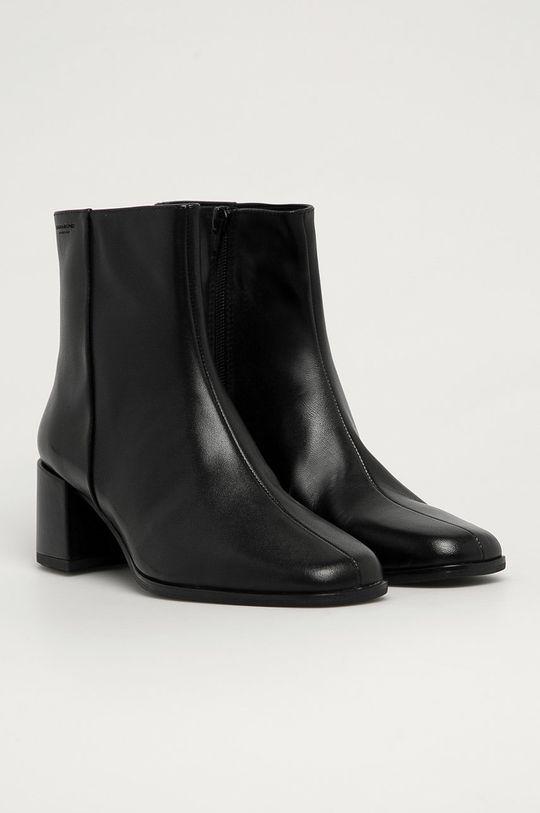 Vagabond - Kožené členkové topánky Stina čierna