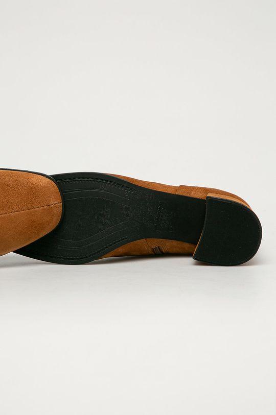 zlatohnědá Vagabond - Kožené kotníkové boty Stina