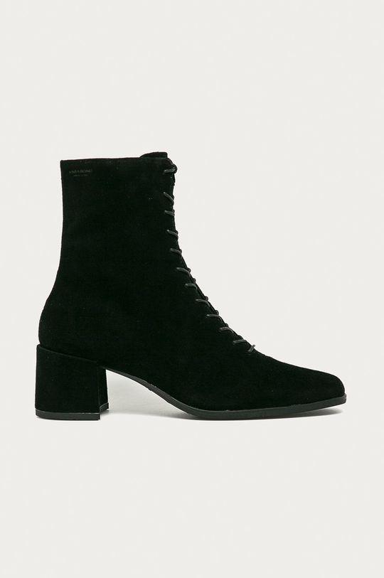 čierna Vagabond - Kožené členkové topánky Stina Dámsky