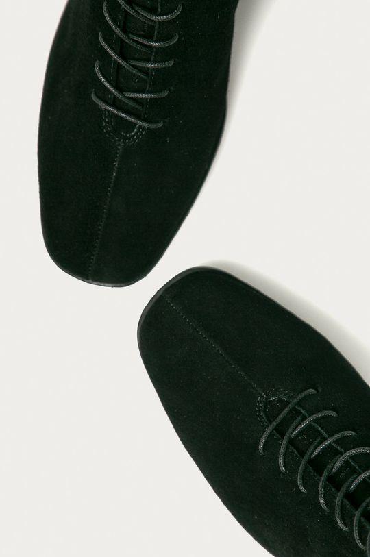 čierna Vagabond - Kožené členkové topánky Stina
