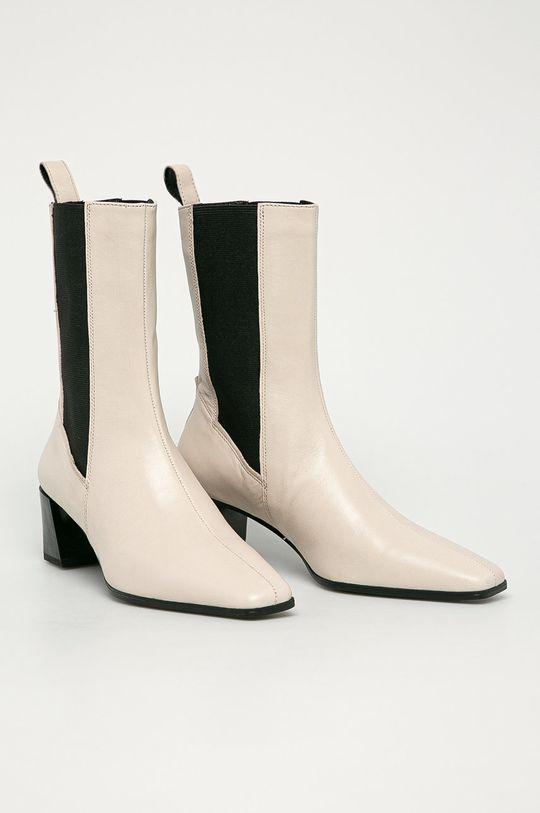 Vagabond - Kožené topánky Chelsea Gabi biela