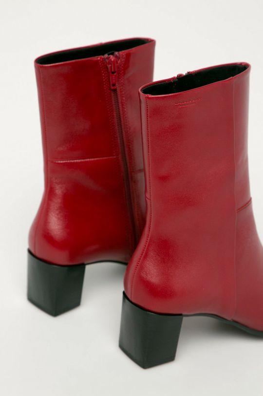 červená Vagabond - Kožené členkové topánky Gabi