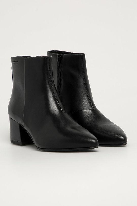Vagabond - Kožené členkové topánky Mya čierna