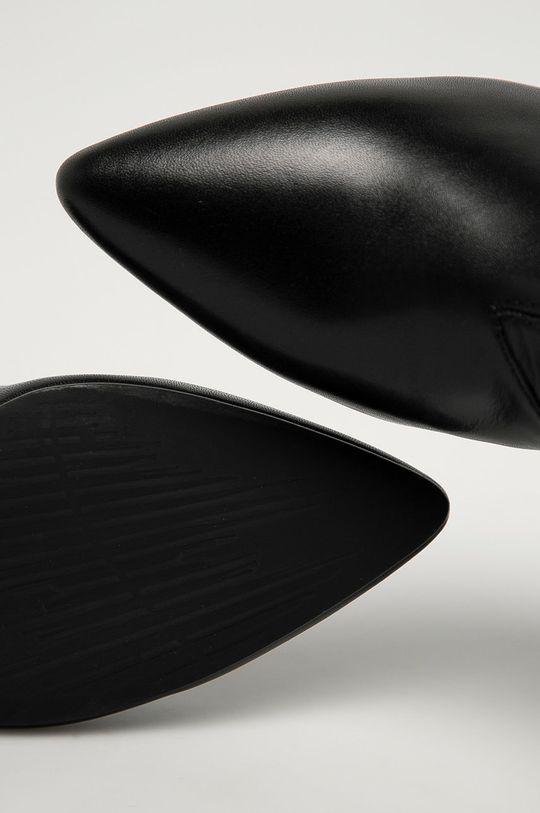 čierna Vagabond - Kožené členkové topánky Mya
