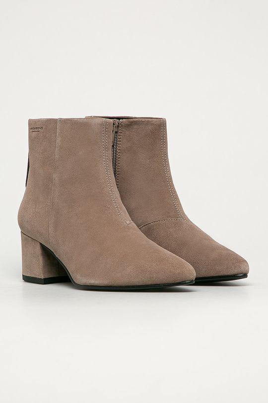 Vagabond - Kožené kotníkové boty Mya béžová
