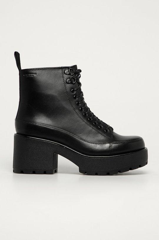 čierna Vagabond - Kožené členkové topánky Dioon Dámsky