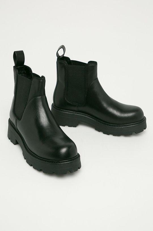 Vagabond - Kožené kotníkové boty Cosmo 2.0 černá
