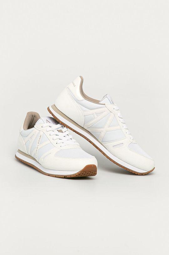 Armani Exchange - Topánky biela