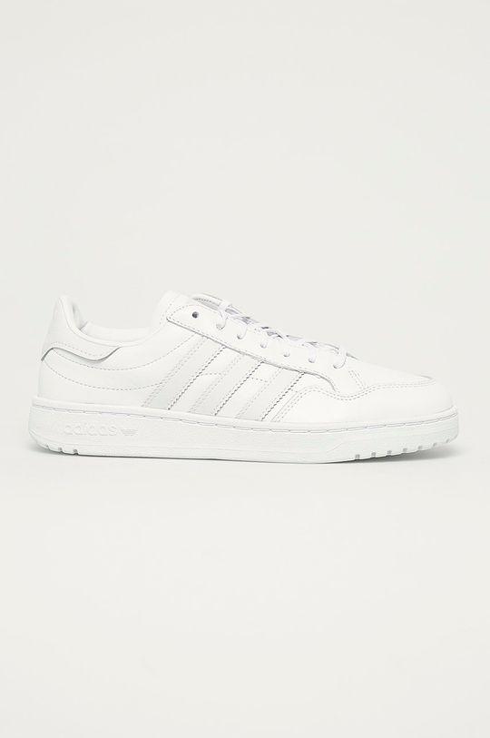 biały adidas Originals - Buty Team Court W Damski