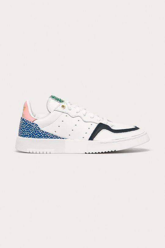 bílá adidas Originals - Kožené boty Supercourt Dámský