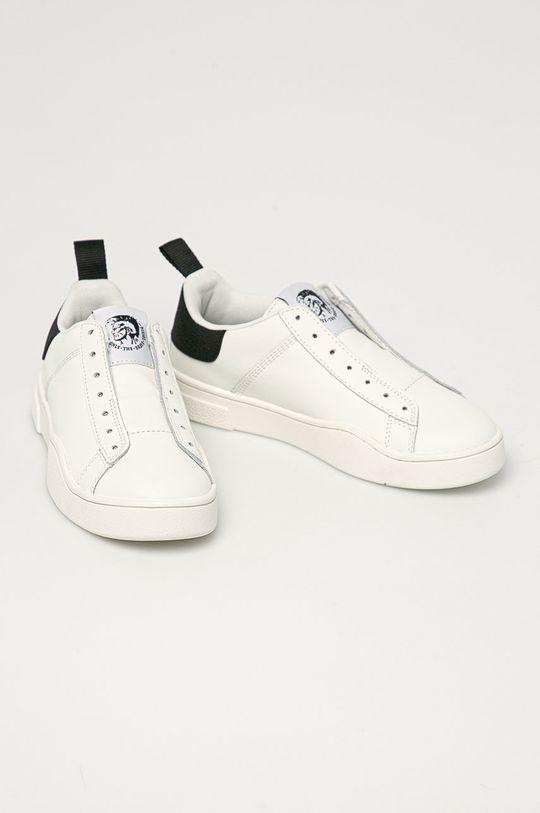 Diesel - Kožená obuv biela