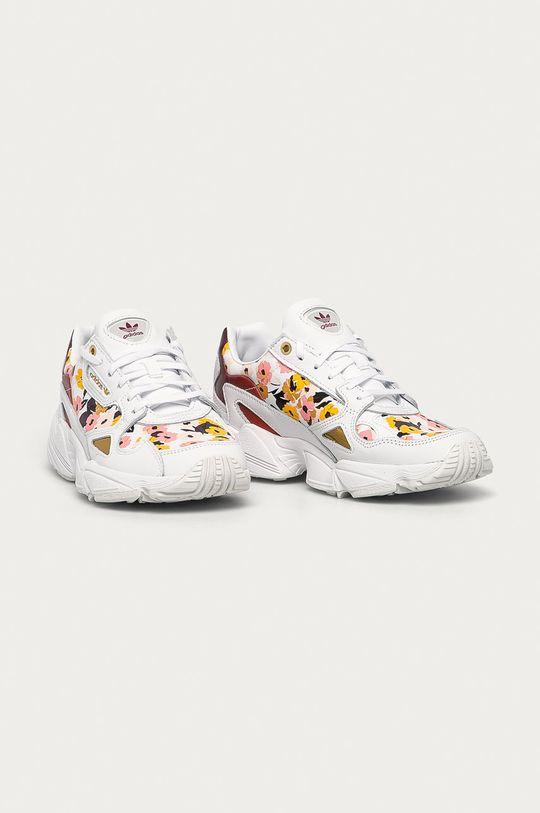 adidas Originals - Kožené boty Falcon bílá