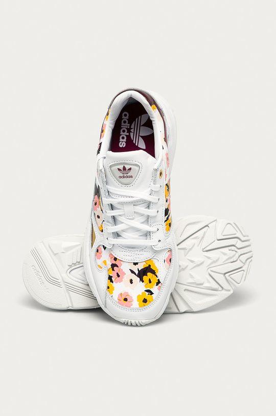 bílá adidas Originals - Kožené boty Falcon