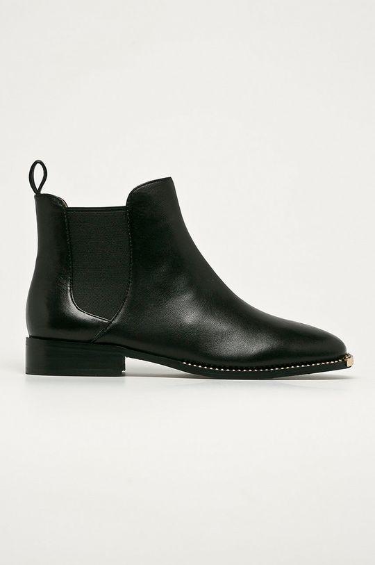 čierna Coach - Kožené topánky Chelsea Nichole Dámsky