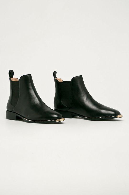 Coach - Kožené topánky Chelsea Nichole čierna