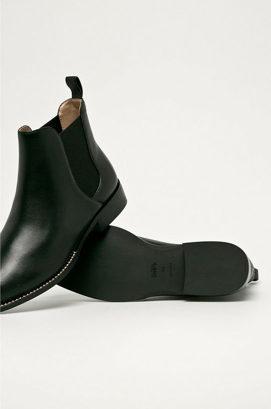čierna Coach - Kožené topánky Chelsea Nichole