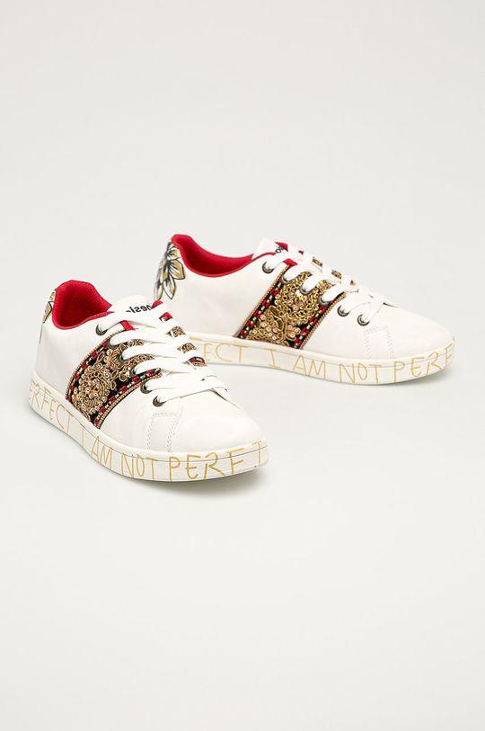 Desigual - Pantofi alb