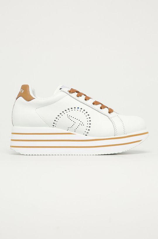 biela Trussardi Jeans - Kožená obuv Dámsky