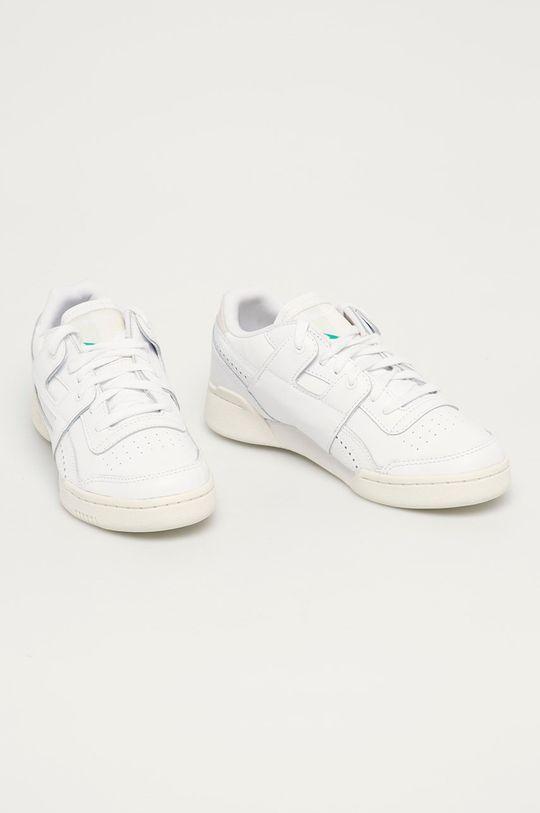 bílá Reebok Classic - Kožené boty Workout Lo Plus Dámský